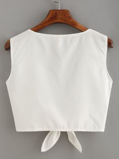 Online shopping for Knot Front Crop Top from a great selection of women's fashion clothing & more at MakeMeChic. Crop Top Outfits, Cute Casual Outfits, Pretty Outfits, Summer Outfits, Teen Fashion Outfits, Womens Fashion, Crop Tops, Diy Clothes, Blouse Designs