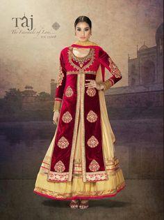 Buy Online Pure Velvet Bridal Wear Designer Lehenga Style Suit