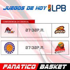 JUEGOS PARA HOY LPB #FanaticoBasket #Pasion #Por #El #Baloncesto #LPB #LPB2016 #Basket #Basketball #Venezuela #JuntosSomosMas #Playoffs #FelizDiaDelEntrenador #DiaDelEntrenador