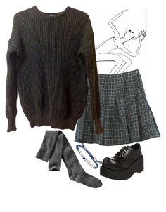 """School girl says "" boys drool ""."" by hunkulez ❤ liked on Polyvore featuring Venessa Arizaga, Retrò, American Apparel, Gap and Pleaser"