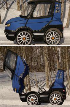 The PodRide is a pretty ride four-wheel bike concept
