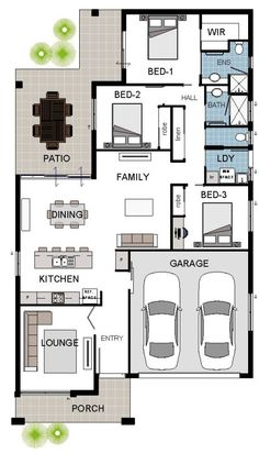ALPHA 5A DISPLAY Coloured Floor Plan Simple House Plans, Dream House Plans, Modern House Plans, House Floor Plans, Bungalow House Design, House Front Design, House Layout Plans, House Layouts, Square House Plans