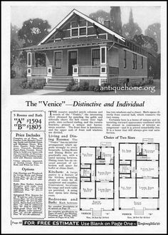 https://flic.kr/p/Esit2J | 1928 Montgomery Ward Kit House~The Venice | Mail order homes from the Montgomery Ward Catalog.  www.antiquehome.org
