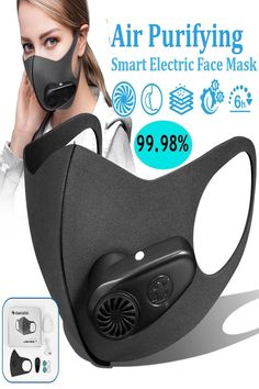Smart Electric Face Mask Air Purifying Anti Dust Pollution Fresh Air Supply With Breathing Valve Personal Health Car - Covid 19 - Corona 2020 - Masks Allergy Mask, Anti Allergy, Flu Mask, Purifying Mask, Air Supply, Decoration Originale, Protective Mask, Air Pollution, Air Purifier