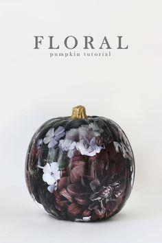 hunted interior: Dark Floral Pumpkin