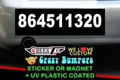 """864511320 Bumper Sticker or Magnet 8""""x2.4"""" 9""""x2.7"""" or 10""""x3"""" sizes available! by CREEKTEE"""