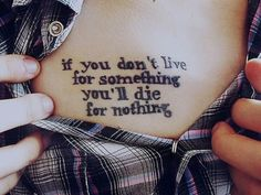 live for something...
