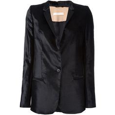 Ssheena fitted blazer (30.420 RUB) ❤ liked on Polyvore featuring outerwear, jackets, blazers, black, blazer jacket, fitted jacket, fitted blazer jacket, fitted blazer and velvet blazer