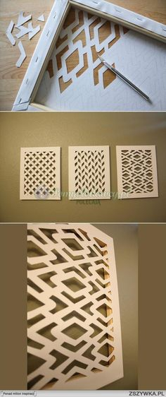 Great idea how to use canvas for wall decoration.