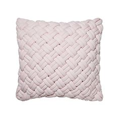 Jersey Chunky Knit Cushion Pale Pink - Home Republic