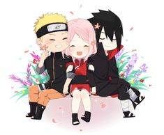 Anime Naruto, Naruto Comic, Naruto Und Sasuke, Naruto Team 7, Sasuke Sakura Sarada, Naruto Cute, Naruto Shippuden, Boruto, Kawaii Anime