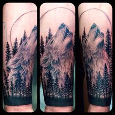 Tattoo wolf trees canadian