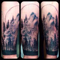Tattoo wolf trees canadian