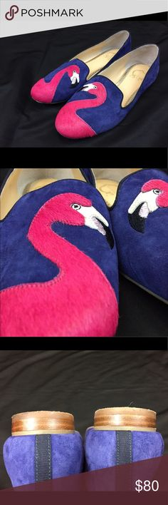"Women's Flamingo flats by C. Wonder Size 7 1/2 Flamingo by C. Wonder Size 7 1/2.  These suede loafers are a perfect addition to your footwear collection. From C. Wonder. Style: Caroline Suede upper, piping detail, embroidered flamingo design, pointed toe Padded insole, grooved outsole Approximately 5/8""H heel Fit: true to size Leather/man-made upper; man-made balance Imported. (Very lightly worn, look new) C Wonder Shoes Flats & Loafers"