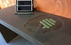 Makers Lane :: Inlaid concrete Desk Custom Made, Bespoke Furniture made in Australia.