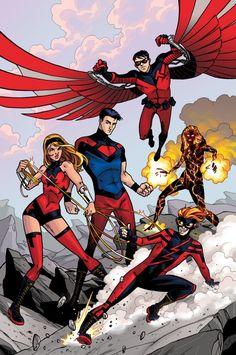 Teen Titans redesign by Ilias Kyriazis