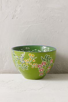 Anthropologie EU Garden Floral Bowl