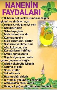 nanenin faydası Natural Health Remedies, Natural Medicine, Diet And Nutrition, Teeth Whitening, Healthy Life, Herbalism, The Cure, Health Fitness, Blog