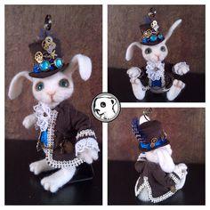 Very dapper steampunk bunny #handmade #needlefelted #feltvisual | Flickr - Photo Sharing!