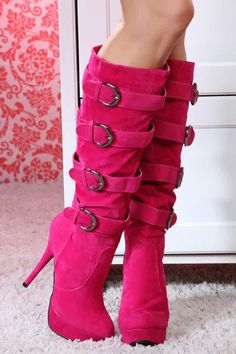 How to make good selection of you pink boots pink boots fancy platform stiletto heel knee high boots RQSEMBT Pink Boots, Sexy Boots, Sexy Heels, Pink Heels, Green Heels, Purple Shoes, Brown Boots, Red Platform, Platform Stilettos