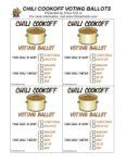 printable chilli cookoff ballots!