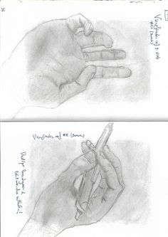 Drawing at the right side of the brain - hands with pencil
