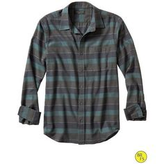 Banana Republic Factory Multi Stripe Flannel Shirt Size XXL - Plaid ($60) ❤ liked on Polyvore featuring tops, banana republic tops, striped top, plaid flannel shirt, plaid button shirt and plaid top