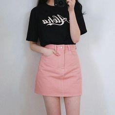 Korean Daily Fashion- Popular T-shirts for this summer 2016 Korean Fashion Ulzzang, Korean Fashion Trends, Korea Fashion, Korean Outfits, Asian Fashion, Daily Fashion, Korean Ootd, Casual Outfits, Fashion Outfits