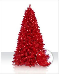 Unique And Unusual Colorful Artificial Christmas Tree Design Decorating Ideas Red