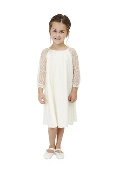 30983168f Ella Dress Lace - Ivory Lace Joanna August, Lace Flower Girls, Flower Girl  Dresses