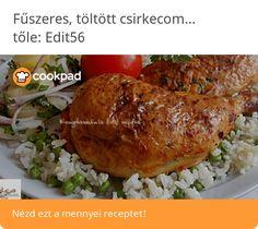 Fűszeres, töltött csirkecomb rizibizivel Pork, Turkey, Chicken, Meat, Red Peppers, Kale Stir Fry, Turkey Country, Pork Chops, Cubs