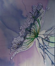 Needle Painted Art Silk Embroidery by ElenaStitch on Etsy, £230.00 Delicately, exquisitely stunning!