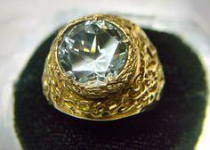 Gold ring Blue Topaz