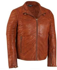 103d3dc4e11 Details about Mens Genuine lambskin jacket Leather Jacket Slim fit Biker  Motorcycle CA44