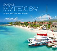 Sandals Montego Bay - Montego Bay, Jamaica where Kristin & Brian will honeymoon. Tropical inspiration for the shower!
