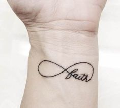 """I want this on my wrist! The only thing I'd change though is making the """"t"""" in """"faith"""" the color red. The red """"t"""" will stand for Christ. This tattoo is really meaningful to me because of my infinite faith in Christ and the significant role He plays in my life. That's why I want this tattoo! :)"""