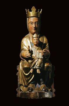 Virgen con Niño. S. XII-XIII. Monasterio de Sta. María de Huerta. Soria