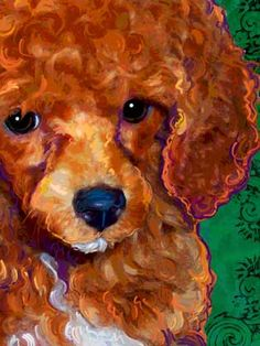 red poodle painting