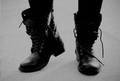 black boots // aesthetic