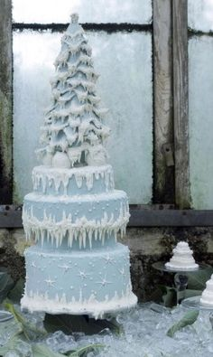 Winter Ice Wedding Cake