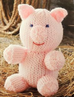Amigurumi: Animal Friends by Michele Wilcox Knitted Doll Patterns, Knitted Dolls, Amigurumi Patterns, Knitting Patterns, Knitting Ideas, Loom Knitting Stitches, Knitting Books, Baby Knitting, Crochet Animal Amigurumi