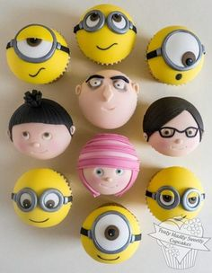 minions-cupcake