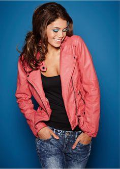 #coral-coloured #jacket #bonprix