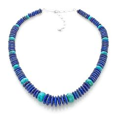 Jay King Anhui Turquoise and Lapis Beaded Necklace