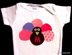 Monogram Thanksgiving Onesie Thanksgiving Baby by babysimplystated, $12.00