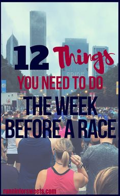 After months of training, the week before a race often brings nerves and anxiety. Here are 12 things you need to do the week before a race to set yourself up for the best race day ever. Spend your extra time during taper preparing for the race and you'll hit the starting line feeling confident and prepared! #runningtaper #raceweek #runningtips Running Plan, Running Race, Running Workouts, Running Tips, Running Humor, Running Schedule, Running Challenge, Song Workouts, Disney Running