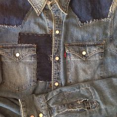 Levis Barstow Western Shirt Repair / Patched / Custom By Jeroen Bredewold