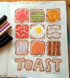#spoonchallenge 10: Toast by Mariana :: www.floatinglemons.com