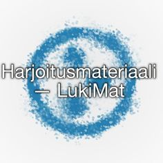 Harjoitusmateriaali — LukiMat Special Needs Teaching, Pre School, Special Education, Grammar, Barn, Teacher, Writing, Learning, School Ideas