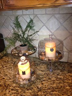 Flameless candles in my kitchen Flameless Candles, Candle Holders, Kitchen, Diy, Inspiration, Home, Decor, Candlesticks, Cooking